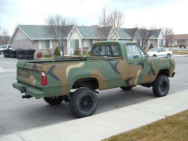 Dodge M Camo Pattern on 1977 Dodge Power Wagon Truck