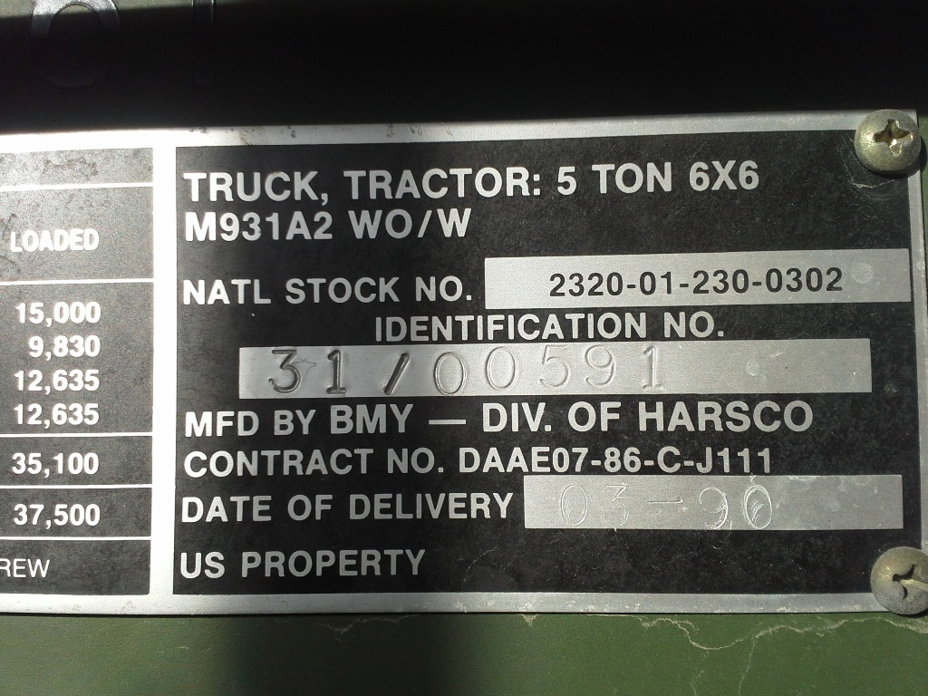 Dodge Diesel For Sale >> No146_M931A2_Harsco-Tractor