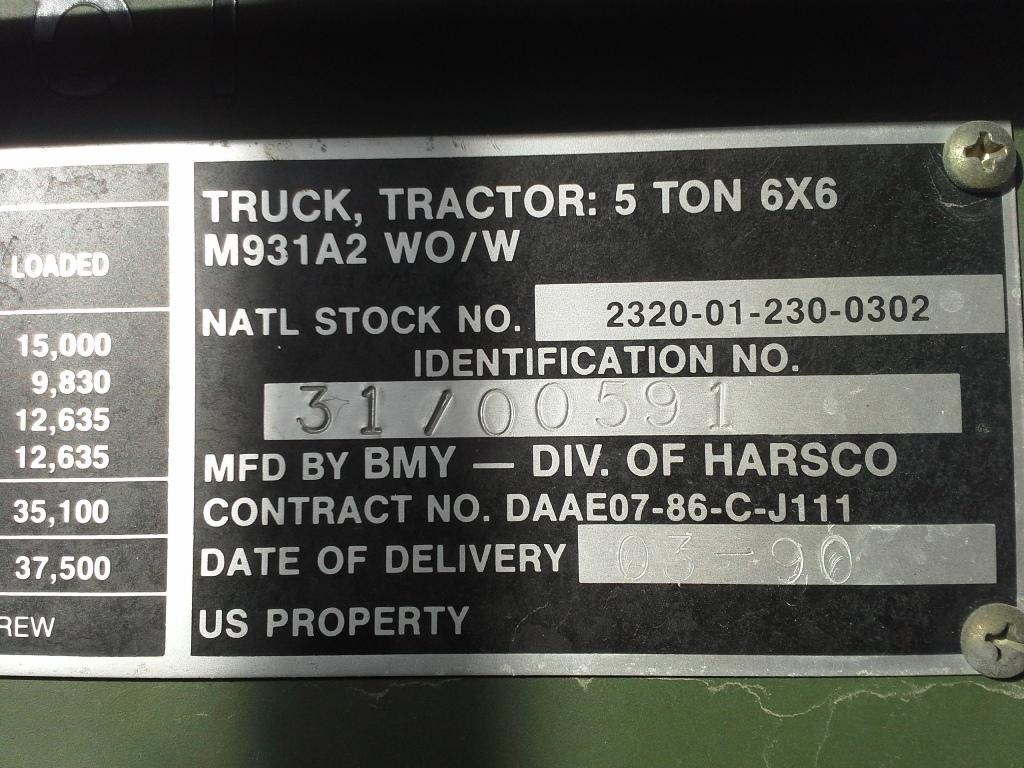 No146_M931A2_Harsco-Tractor