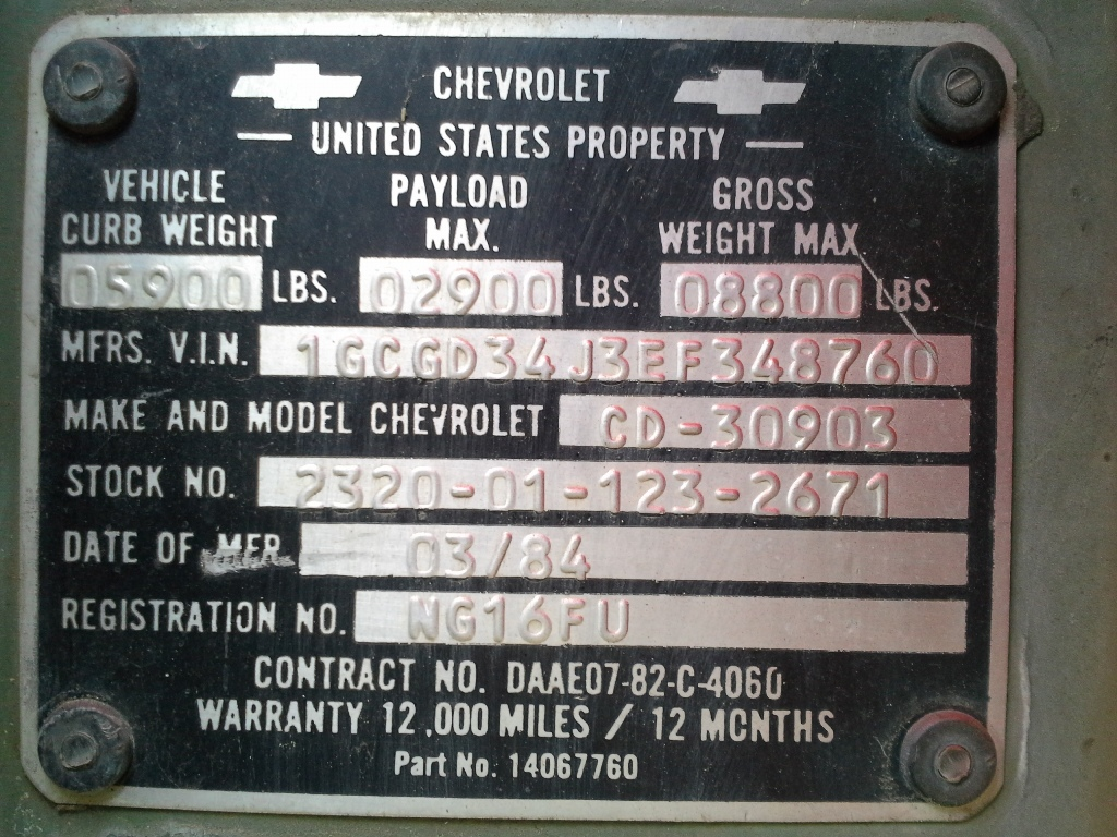 No Chevrolet M Weinart