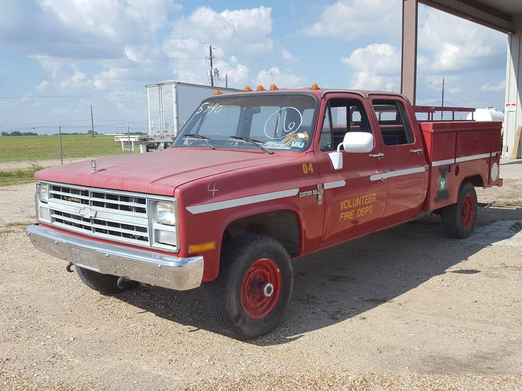 Chevrolet Crew Cabs 1991 Cab 1705 1988 K3500 Baird 9500